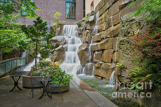 Waterfall Garden Park Seattle by Jerry Fornarotto