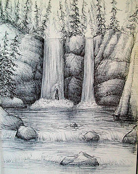 Waterfall by Georges St Pierre