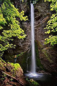 Waterfall in Balkan Mountains by Evgeni Ivanov