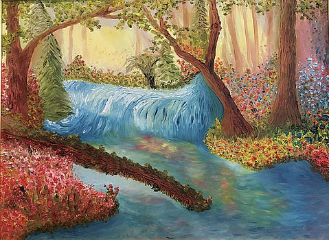 Waterfall in Paradise by Susan Grunin