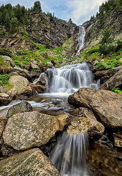 Waterfall in Rila Mountains by Evgeni Ivanov