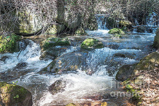 Waterfall In The Mountains From Andalusia  by Compuinfoto