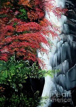 Derek Rutt - Waterfall In The Trees Japan