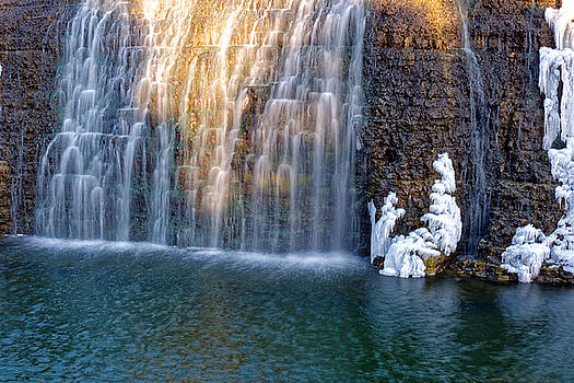 Waterfall in winter by Peter Ponzio