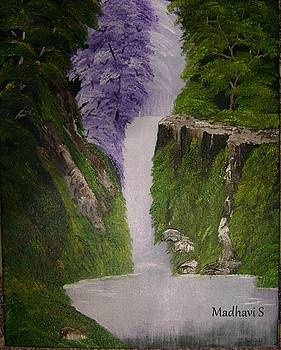 Waterfall by Madhavi Sivan