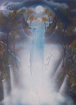 Waterfall Moon II by Juan Carlos Feliciano