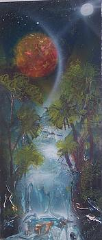 Waterfall Moon by Juan Carlos Feliciano