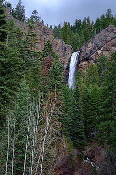 Waterfall near South Fork Colorado by Mary Lee Dereske