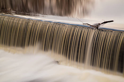 Waterfall of Willimantic, Connecticut by Linda Ouellette