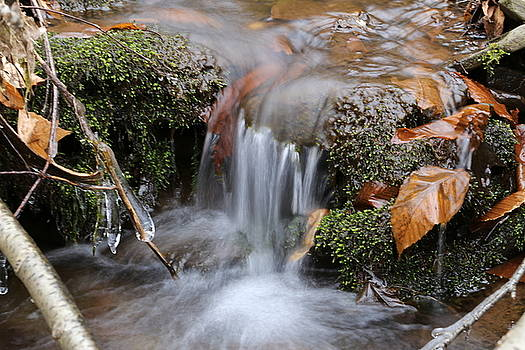Waterfall on a mountain stream by David Hand