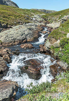 Waterfall On The Bitihorn Track by Compuinfoto