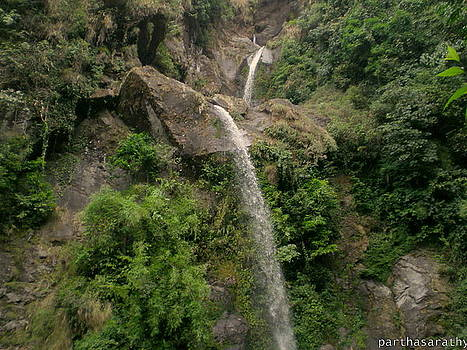 Waterfall by Parthasarathy Alwar