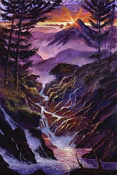 Waterfall Serenade by David Lloyd Glover