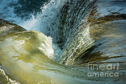 Waterfall Whirlpool As Tranquil Background by Tim Hester