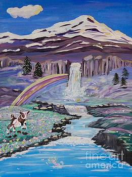 Waterfalls Rainbows and a Silly Goat by Phyllis Kaltenbach
