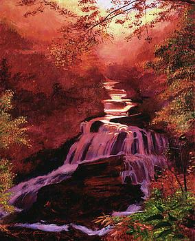 Waterfall Sunrise by David Lloyd Glover