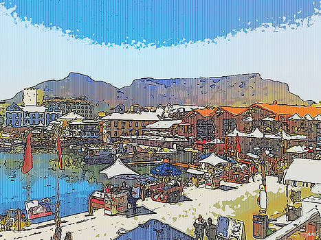 Waterfront and Table Mountain by Jan Hattingh