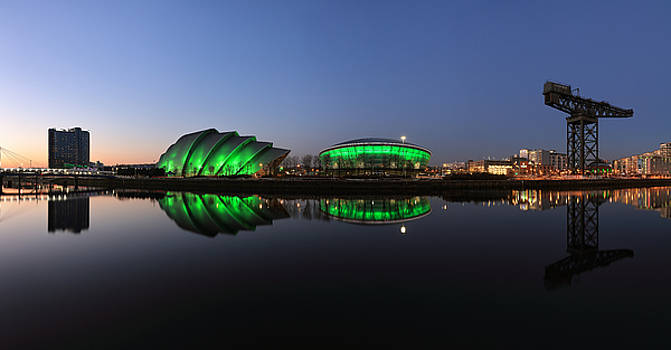 Waterfront Pano in the Twilight by Grant Glendinning