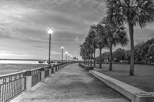 Waterfront park at dawn by BG Flanders