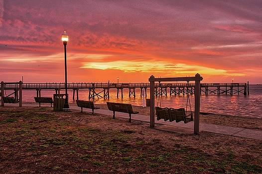 Waterfront park in Southport at Sunrise by Nick Noble