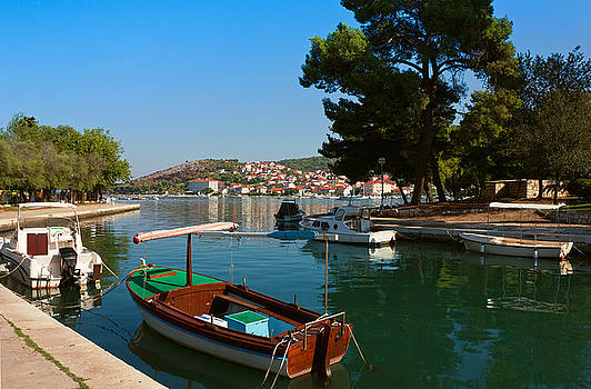 Waterfront view of Trogir in Croatia by Kiril Stanchev