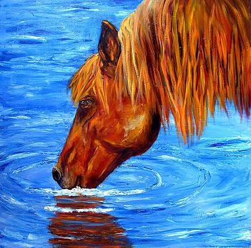 Mary Jo Zorad - Watering Hole Horse painting