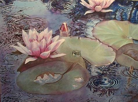 Waterlily In The Rain by Joan Cookson
