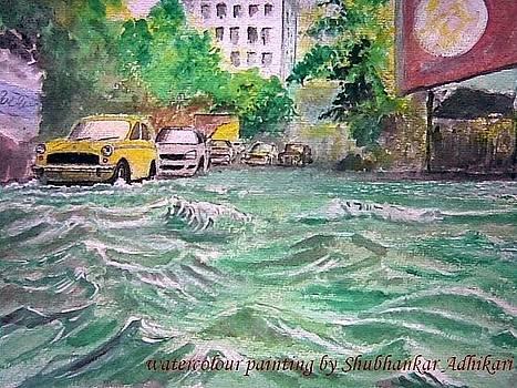 Waterlogged street by Shubhankar Adhikari