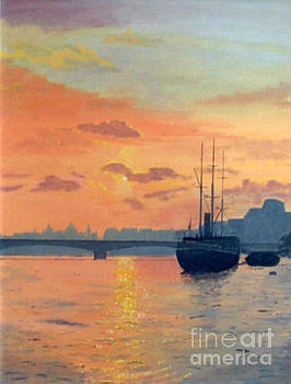 Waterloo Bridge Sunset by Peter Farrow