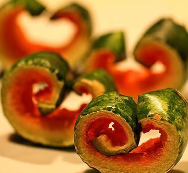 Watermelon Curls Still Life by Bob See