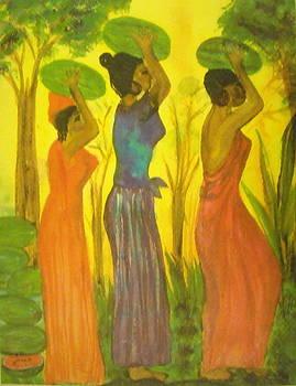Watermelon ladies by Aldonia Bailey