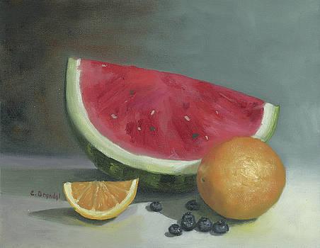 Watermelon Still life by Cecilia Brendel