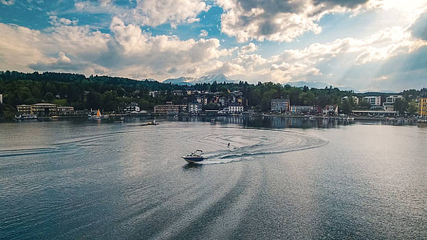 Waterskiing in Velden am Worthersee by Chris Thodd