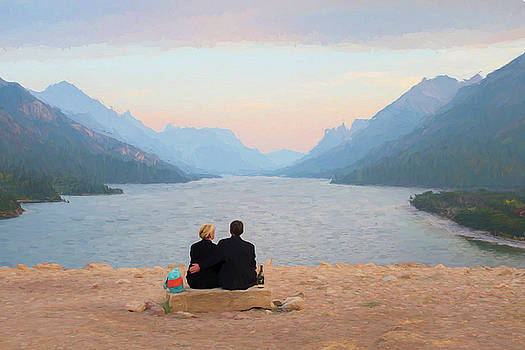 Waterton Lakes Painted by Christian Heeb