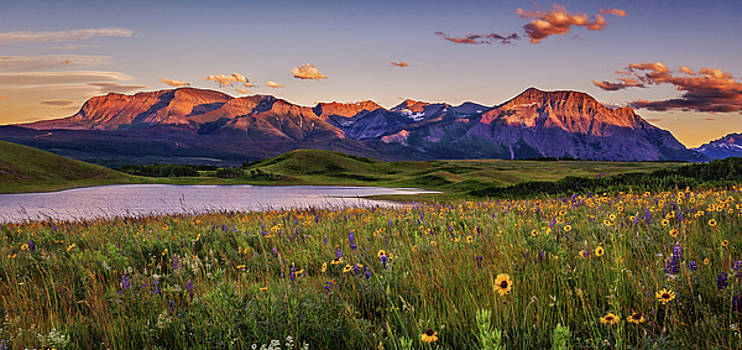 Waterton Lakes Sunset by Tracy Munson