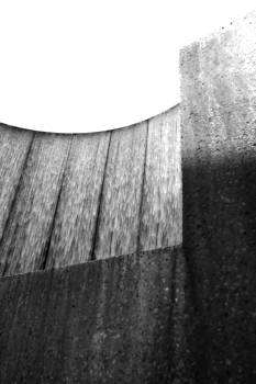 Waterwall Abstract in Black and White by Angela Rath