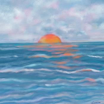 Watery sun by Christine Fournier