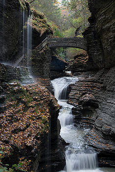 Watkins Glen Rainbow Falls by Joshua House