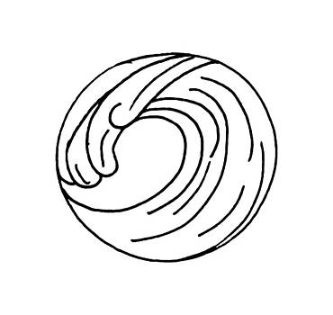 Wave Line Drawing by Cortney Herron