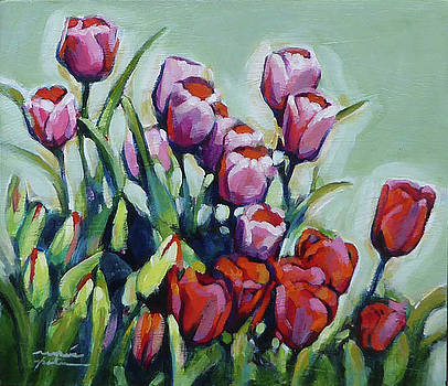 Wave of Tulips by Renee Peterson