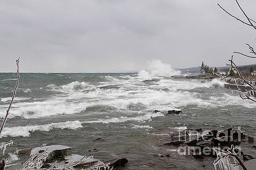 Wave Watching on Superior by Sandra Updyke