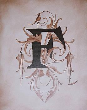 Waverly F Monogram by Katie Fitzgerald