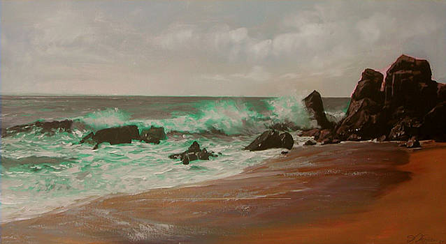 Waves And Rocks by Demetrios Vlachos
