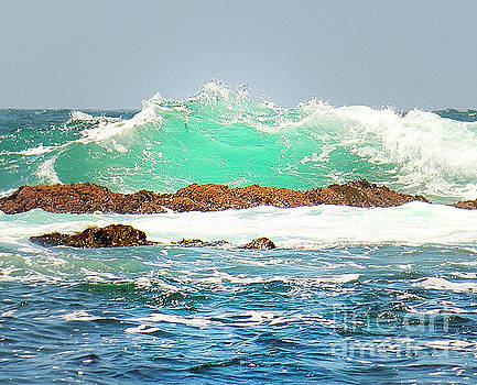Waves at Pacific Grove California by Artist and Photographer Laura Wrede
