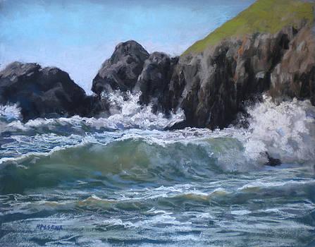Waves at Rockaway by Cheri Halsema