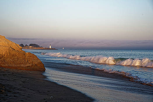 Waves at Santa Cruz by Peter Ponzio