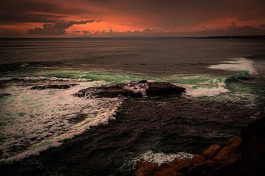 Rick Strobaugh - Waves Breaking over the Rocks