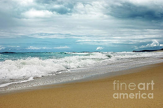 Waves Clouds and Sand by Kaye Menner by Kaye Menner