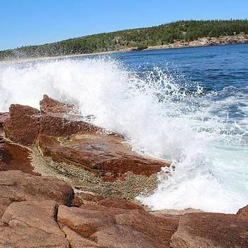 Waves Crashing On The Rocks Always Make by Jake Cockerill