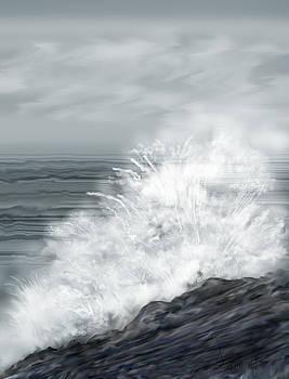 Waves Crashing the Rocks in Ireland by Anne Norskog